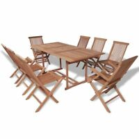 vidaXL Rectangular Dining Table and 8 Chairs Garden Furniture Set Outdoor Patio