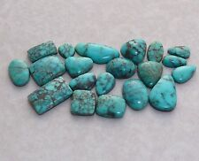 Natural Lone Mountain Spiderweb Turquoise Cabochons, 19 carats