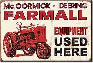 Farmall Equipment Used Here steel fridge magnet (de)