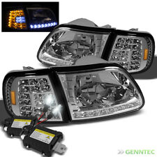 For Slim Xenon 8000K HID+97-02 Ford Expedition LED Headlight+Corner Lights Lamp