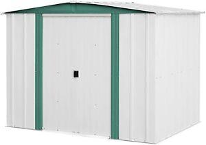Arrow Sheds 8'x6'x5.7' Hamlet Peak Galvanized Steel Yard Outdoor Storage Shed