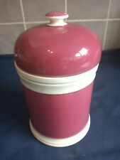 More details for 19th century antique pink creamware pottery apothecary jar & lid, height 22cm