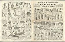 PARIS GRANS MAGASINS DU LOUVRE PROSPECTUS CAMPING & SPORTS 1935