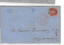 Chile 5c Estanco on 1864 cover w/ message (3beo)