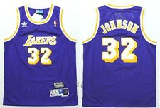 NBA Replica Earvin Magic Johnson #32 LA Lakers Hardwood Classic Stitched Jersey