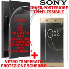 Cover TPU + Vetro Temperato Pellicola Protezione SONY XPERIA XA1/2/ULTRA/L1/2/XZ