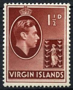 British Virgin Islands 1938-47 SG#112a, 1.5d Red-Brown KGVI MH #D25811