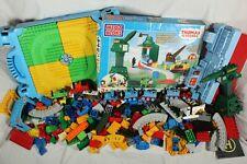 Thomas & Friends Mega Bloks Bundle 10527 Cranky Storage Tub Play N Go Table Lot