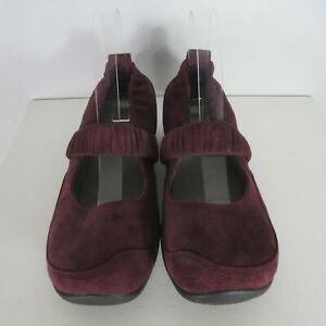 Dansko Women Shoe Chrissy Womens 9.5  EUR 40 Purple Suede Mary Jane Flat Comfort