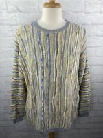 Vintage 90s LaVane New York Pullover 3D Texture Sweater Mens Size XL Hip Hop vtg