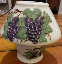 2-Pc Grape Vine Theme Tea Light/Votive Candle Holder with Shade