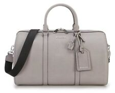 NWT Michael Kors Travel XLarge Weekender Leather Duffle Shoulder Pearl Gray