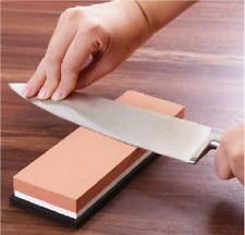 Knife Sharpening Stone Kitchen Whetstone Sharpener Wet Two Sided 600/1000 Grit