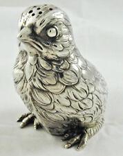 More details for antique novelty silver bird pepper shaker bernard muller dated 1908 iee