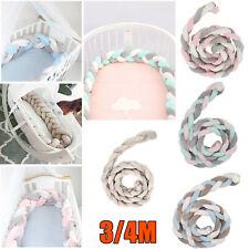 3/4M Länge Baby Nestchen Kopfschutz Knotenkissen Bettschlange Farbe Babynestchen