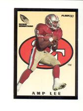 1993 Fleer AMP LEE San Francisco 49ers Rookie Sensations Insert Card