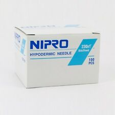 "Nipro 23G x 1  "" Hypodermic Needle -Box of 100- Comes in Sterile Blister Pack"