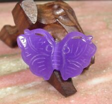 CHINESE Lavender Purple JADE PENDANT Butterfly with jewelry cord 256337
