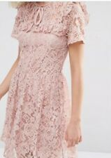 ASOS Lace Ruffle Yoke Skater Dress Rrp £38