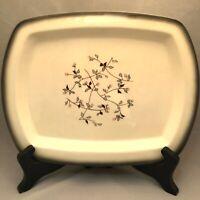 Brock of California Pottery Wildflower XL Platter Pink Turqois Gray Border USA