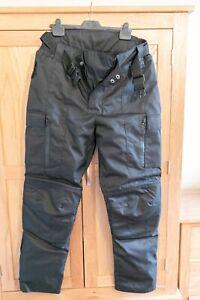 Motorcycle Motorbike Cordura trousers, Waterproof, Removable Padded Lining, UK38