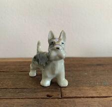 Vintage Ceramic Scottie Terrier Dog Figurine Brown Black Gray White Japan
