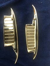 1961-1964 Chevy Impala, Biscayne 24k Gold Plated Door Handle Scuff Guards