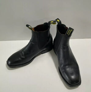 THOMAS COOK Trentham black leather dress elastic side mens 7EE pull On boots
