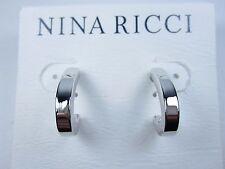 Pierced Earrings 0490 Nina Ricci Rhodium Plated