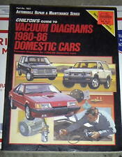 1980-1986 DOMESTIC CARS VACUUM DIAGRAMS CHILTON GUIDE