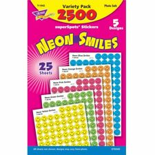 Neon Smiles superSpots® Stickers Variety Pack Trend Enterprises Inc. T-1942