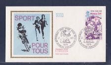 enveloppe 1er jour   sport  pour tous  Blanzac Porcheresse      1978