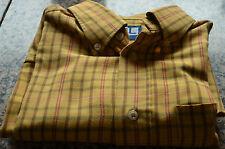 bonito camisa mostaza de rayas SERGE BLANCO LOS QUINCE TALLA L excelente estado