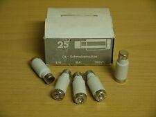25 DL Schmelzeinsätze Schmelzsicherung 16A 380V E16 DDR Sicherung Porzellan