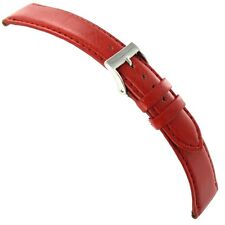 20mm Milano Silicon Red Genuine Italian Leather Mens Padded Watch Band 755