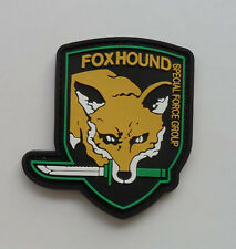 FOX HOUND SPECIAL FORCE GROUP PVC 3D Rubber .Metal Gear Solid.   Patch SK 5