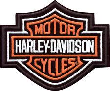 HARLEY-DAVIDSON Parche / EMBLEMA Bar & SHIELD ORANGE emb302381 pequeño