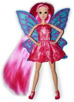Eledoll Butterfly Fairy Poseable Jointed Articulated Pink Hair Fashion Doll