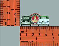 Fj & FX Holden, Black / White / Green  All metal hat pin, lapel pin ,Badge