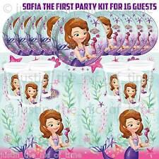Sofía La Primera 1st Niñas Niños Niño Fiesta De Cumpleaños Vajilla Kit Pack para 16