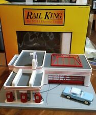 Rail King Esso Operating Gas Station - 30-9106 - O Scale Tested Working
