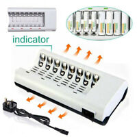8 Slot Intelligent Battery Charger For AA AAA NI-CD NI-MH Rechargeable Batteries
