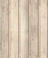 Efecto 3D Revestimiento Panel de Madera Natural. Arthouse Skandi Tablón Wallpaper 696700