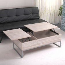 Natural Wood Living Room Lift Top Storage Coffee Table Durable Office Desk