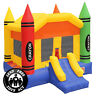 Commercial Grade 17 x 13 Bounce House 100% PVC Inflatable Crayon Castle w Blower