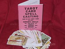 TAROT CARD SPELL CASTING book- Occult  Magick Grimoire. Magick