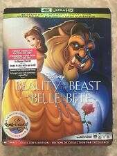 Animated Beauty And The Beast 4K Ultra HD & Blu-Ray w Slipcover Canada NODC LOOK