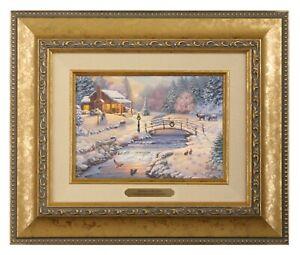 Thomas Kinkade Studios Christmas at the Cabin Brushwork (Choice of Frame)