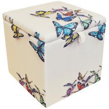 papillon - Carré stockage ottomane Tabouret / COUVERTURE COFFRE Cube - multi