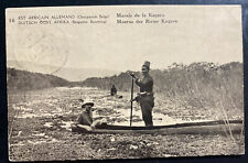 1918 Belgian Congo Real Picture Postcard Stationery cover Kagera River